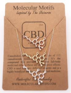 CBD molecule necklace