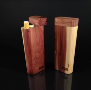 Cedar wood dugout smoking box